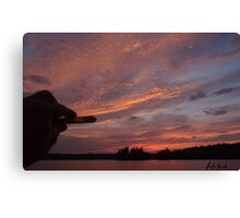 Painting the Sunset  Canvas Print