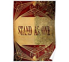 Stand As One Poster