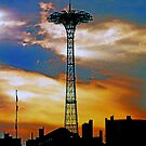 CONEY ISLAND BLUES ON THE PARACHUTE JUMP by KENDALL EUTEMEY