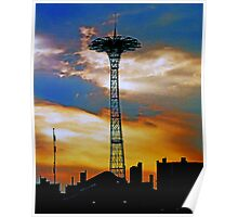 CONEY ISLAND BLUES ON THE PARACHUTE JUMP Poster