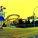 CONEY ISLAND ON THE BOARDWALK by KENDALL EUTEMEY