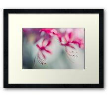 Grace. Natural Watercolor. Touch of Japanese Style Framed Print