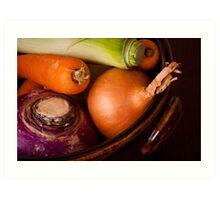 Casserole Vegetables Art Print