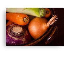 Casserole Vegetables Canvas Print