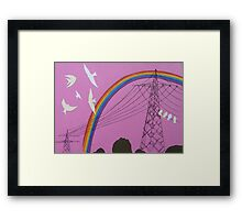 rainbow birds Framed Print