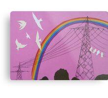 rainbow birds Metal Print