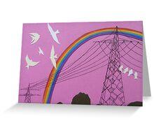 rainbow birds Greeting Card