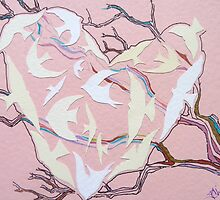 pink heart cutout by Hannah Clair Phillips