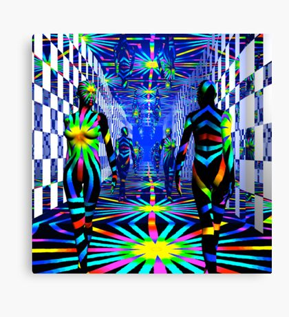 ...Over and Over and Over Again... Canvas Print
