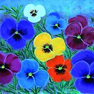 Painted Pansies  by maggie326