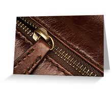 Leather and Zip Greeting Card