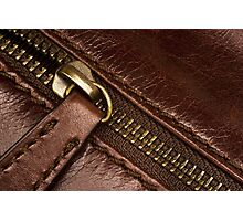 Leather and Zip Photographic Print