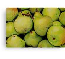 Pears in Colour Pencil Canvas Print
