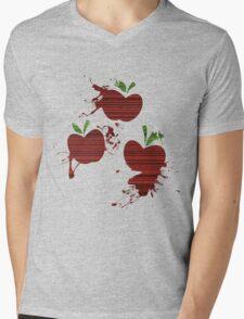 Apple Jack Cutie Mark Grain & Splatter Mens V-Neck T-Shirt
