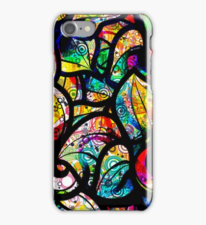 Colorful Stained Glas Like Abstract Swirls 2 iPhone Case/Skin