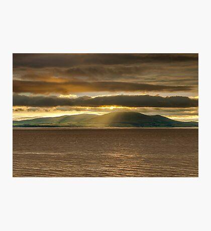 Criffel Rays Photographic Print