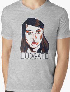 Aubrey Plaza/April Ludgate Portrait Mens V-Neck T-Shirt