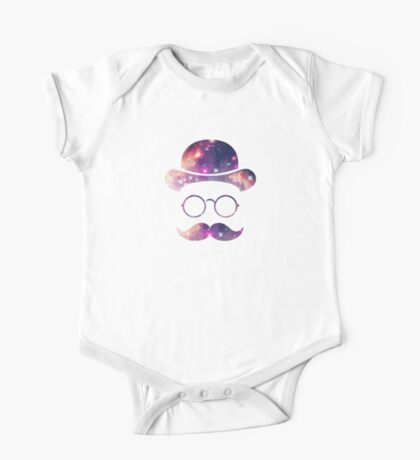 Retro Face with Moustache & Glasses / Universe  Kids Clothes