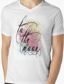 sunset nebula Mens V-Neck T-Shirt