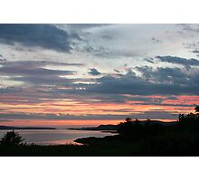 Sunset over Trawbreaga Bay Photographic Print