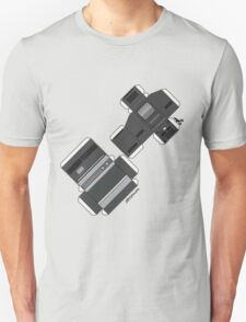 Vintage Streaming Devices Radio And TV Retro Cutout Paper Poster T-Shirt