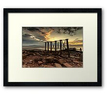 Bowness Viaduct Sunset Framed Print