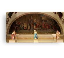 St. Louis Cathedral's Artwork Over The Altar In Nola Canvas Print