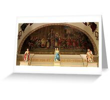 St. Louis Cathedral's Artwork Over The Altar In Nola Greeting Card