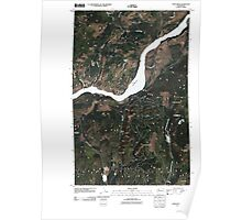 USGS Topo Map Washington State WA China Bend 20110429 TM Poster