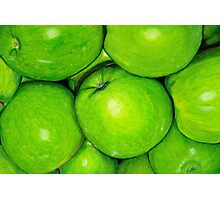 Green Apples in Colour Pencil Photographic Print