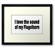 Flugelhorn Framed Print
