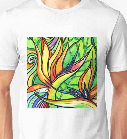 Bird of Paradise Flower, Tropical Strelitzia  Unisex T-Shirt