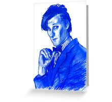 Doctor Who 11th - blue Greeting Card