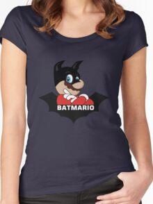 BATMARIO - Batman Mario Mashup Women's Fitted Scoop T-Shirt