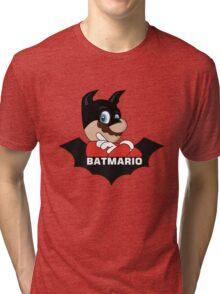 BATMARIO - Batman Mario Mashup Tri-blend T-Shirt
