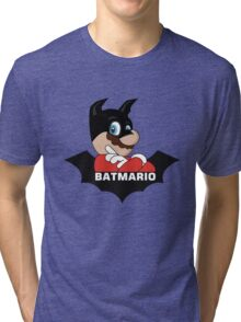 BATMARIO - Batman Mario Mashup Tri-blend T-Shirt