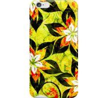 Colorful Warm Tones Retro Floral Collage iPhone Case/Skin