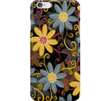 Retro Abstract Simple Retro Floral Design iPhone Case/Skin