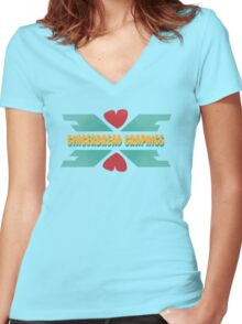 Gingerbread Graphics Women's Fitted V-Neck T-Shirt