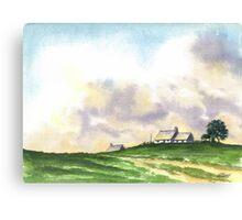 LANDSCAPE WITH FARMS Canvas Print