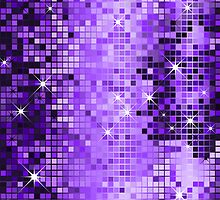 Metallic Purple Sequins Look-Disco Ball Pattern by artonwear