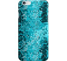 Metallic Turquoise Green Sequins Look-Disco Ball Pattern iPhone Case/Skin