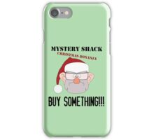 A Mystery Shack Christmas - Green iPhone Case/Skin