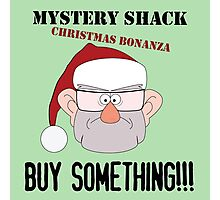 A Mystery Shack Christmas - Green Photographic Print