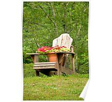 June's Adirondack Chair Poster