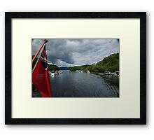 Flag on Boat Framed Print
