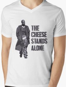 Omar Little - The Cheese Stands Alone Mens V-Neck T-Shirt