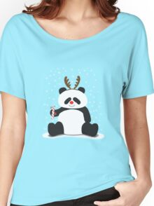 Merry Christmas, Panda! Women's Relaxed Fit T-Shirt