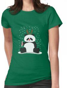 Merry Christmas, Panda! Womens Fitted T-Shirt