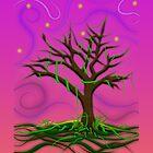 Neon Night Tree by Elliott Butler